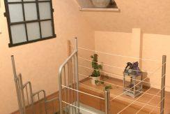 Wendeltreppe zur unteren Etage